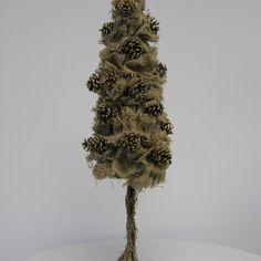 Pinecone Burlap Tree