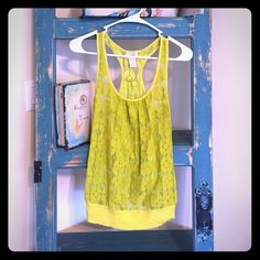 Sheer Tank Top Sheer Tank with Retro Pattern looks great layered Tops Tank Tops