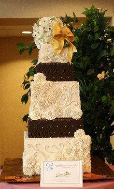 Black&White-modern- wedding cake- The cake zone- Florida