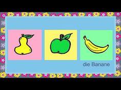 Deutsch lernen: Essen (Spiel - game - jeu de Kim) - YouTube