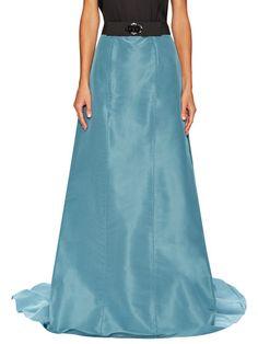 Silk Zip Skirt by Carolina Herrera at Gilt