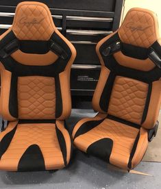 """Josh Laird - Relicate on Instagram: """"Take a look @nw_crafted for custom race style seats! This pair in #Relicate Napa Dune leather and #Alcantara. #relicateleather #nwcrafted"""" Car Seat Upholstery, Car Interior Upholstery, Automotive Upholstery, Custom Van Interior, Truck Interior, Racing Seats, Car Seats, Custom Silverado, Ford Bronco Ii"""
