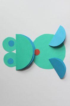 New art projects for kids preschool shape Ideas Paper Crafts For Kids, Preschool Crafts, Projects For Kids, Art Projects, Circle Crafts, Circle Art, Origami Tattoo, Origami Ball, Origami Fashion