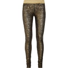 Sass & bide One by One sequined leggings via Polyvore