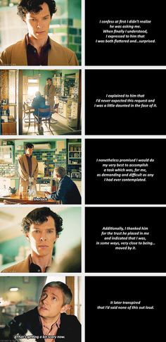 Sherlock: Reaction, or lack thereof, to being asked to be John's best man. (gif)