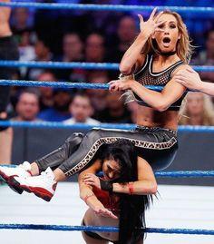 Nikki Bella and Carmella Wrestling Superstars, Wrestling Divas, Women's Wrestling, Divas Wwe, Hottest Wwe Divas, Carmella Wwe, Wwe Women's Division, Wwe Wallpaper, Wwe Female Wrestlers