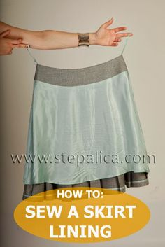 Zlata skirt sewalong: #11 Assemble the lining sewing in lining for a skirt