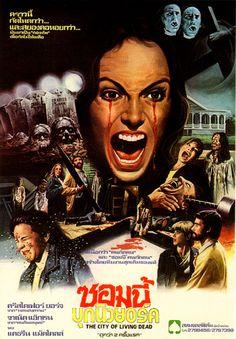 80 posters y cover art de la mini saga zombie de Lucio Fulci #horrorposters #Fulci #zombies