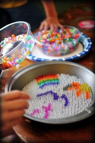 Pony Bead Sun-catchers. Put a small rivet in so there is no need to drill a hole