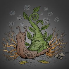 Snail Botanic Night