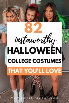 Halloween is rapidly approaching and it's time to look for some fun Halloween costume ideas. Halloween is the best holiday you're going to celebrate while in college. So you definitely need to fine the best Halloween costumes for college students that is guaranteed to impress. Whether you're looking for something funny or sexy you will find something that you love. #halloween #halloweencostumes Creative College Halloween Costumes, College Costumes, Popular Halloween Costumes, Cher Clueless, Rosie The Riveter, College Students, Costume Ideas, Powerpuff Girls, Sexy