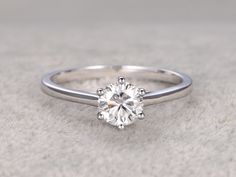7mm Round Moissanite Engagement Ring 14k White Gold Promise Ring 6-Prongs Set http://www.deal-shop.com/product/levaca-womens-long-sleeve-button-cowl-neck-casual-slim-tunic-tops-with-pockets/