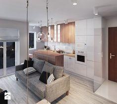 białe mieszkanie - Duża kuchnia, styl skandynawski - zdjęcie od Finchstudio Architektura Wnętrz
