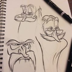 #dumbledore faces #breaksketch #brushpen #characterdesign #albusdumbledore #hogwarts #harrypotter #cartoon
