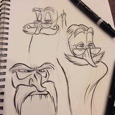 #dumbledore faces #breaksketch #brushpen #characterdesign #albusdumbledore #hogwarts #harrypotter #cartoon