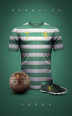 Vintage Clubs II on Behance - Emilio Sansolini - Graphic Design Poster - Sporting - Leões