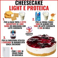 Conseils fitness en nutrition et en musculation. Healthy Cheesecake, Healthy Snacks, Healthy Recipes, Tips Fitness, Good Food, Yummy Food, Fake Food, Dessert Recipes, Desserts