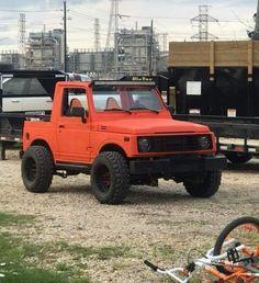 Suzuki Sj 410, Suzuki Jimny, Bad To The Bone, Mini Trucks, Jeep 4x4, Jeeps, Offroad, Chevy, Classic Cars