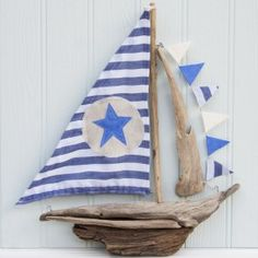 driftwood boat by Driftwood Dreaming. £40.00 plus postage.