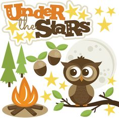 Under The Stars SVG files for scrapbooking camping svg file owl svg file owl svg cut file free svgs
