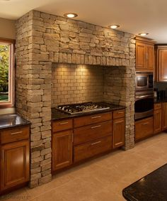 Colonial Tan™ Ledgestone Thin Veneer is a natural stone that consists of radiant browns, beige, tan, and light gray accentuated by gold and silver specks. Thin Stone Veneer, Natural Stone Veneer, Decorating Blogs, Interior Decorating, Stone Columns, Stone Kitchen, Shower Doors, Cladding, Kitchen Design