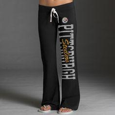 Pittsburgh Steelers Women's Black '47 Brand Pep Rally Pants  $55.99 http://www.fansedge.com/Pittsburgh-Steelers-Womens-Black-47-Brand-Pep-Rally-Pants-_818857360_PD.html?social=pinterest_pfid22-38505