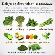 Dołącz do diety zasadowej Diet Recipes, Vegan Recipes, Clean Eating, Healthy Eating, Food Hacks, Food Tips, Healthy Tips, Asparagus, Green Beans