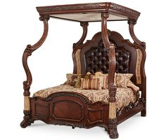 Cal King Canopy Bed (4 pc)|Victoria Palace| Michael Amini Furniture Designs | amini.com