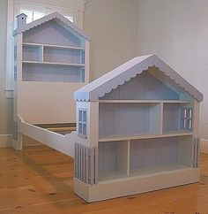 Girls DOLLHOUSE BED Solid Wood 30 CUSTOM PAINTS & STAINS Cottage Style FULL SIZE in Home & Garden, Kids & Teens at Home, Furniture | eBay