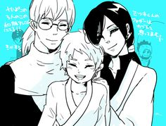 Kabuto, Orochimaru and Mitsuki  Artist : せ(:3)いこ♪  Source : https://twitter.com/seikoovo/status/648871626847596545?lang=th