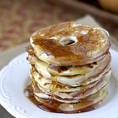 apples dipped in pancake batter and cooked up like regular pancakes!  Flapjack Friday?