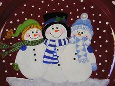 Snowmen Plate