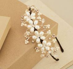 Louise lado Tiara Floral hongo ostra perlas por jewellerymadebyme