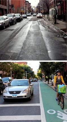 Complete Street upgrade to Stanton St., New York City. Click image to tweet, and visit the slowottawa.ca boards >> https://www.pinterest.com/slowottawa/boards/
