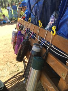 Handcart trek life hack. With some rope and carabiners your handcart can carry…