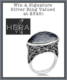 WIN A HERA Designs Signature Silver Ring Valued at $345! Open to CAN & US Rings For Men, Silver Rings, Engagement Rings, Shopping, Jewelry, Design, Enagement Rings, Men Rings, Wedding Rings