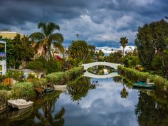 Walk through the serene Venice canals on your way to Venice Beach.
