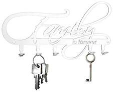 Schlüsselbrett * Family is forever * Hakenleiste  Haken - Stahl, weiß - NEU