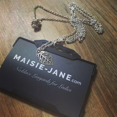 New Design Out Now! Silver Leaf by Maisie-Jane is the ultimate pretty necklace to style up your work pass security ID Badge, all our Necklace Lanyards include a quick release safety magnetic catch. Makes the perfect Graduation/Teacher/End of Term Gift!