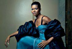 icon, first ladies, happy birthdays, blue, michelle obama, michell obama, annie leibovitz, vogue magazine, barack obama