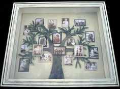 What a cute idea. Photo Family Tree in shadow Box.....Donna Gigica: Junho 2010
