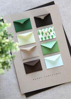 Merry Christmas Tiny Envelopes Card