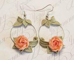 Hey, I found this really awesome Etsy listing at https://www.etsy.com/listing/280800070/peach-peony-earrings-peach-flowers