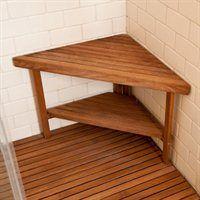 TeakWorks4u TBC-3022 Deluxe Corner Shower Bench