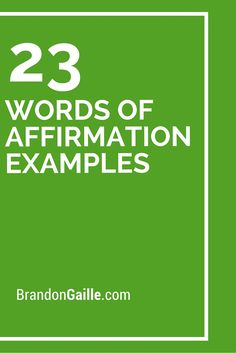 23 Words of Affirmation Examples