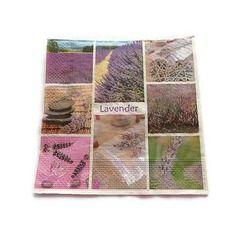 Serviette papier motif lavande