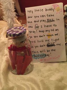Elf on the shelf adventures in a jar.