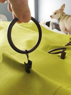 DIY curtains & how to hang them with pinch pleats using curtain rings