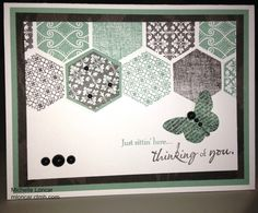 CTMH Honeycomb stamp set - card from Show and Tell with Michelle