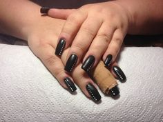 black Nails, Painting, Beauty, Black, Finger Nails, Beleza, Ongles, Black People, Painting Art